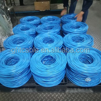 Gran oferta de comunicación 24 AWG 8 pares de cable cat6 CCA cable de red 305m