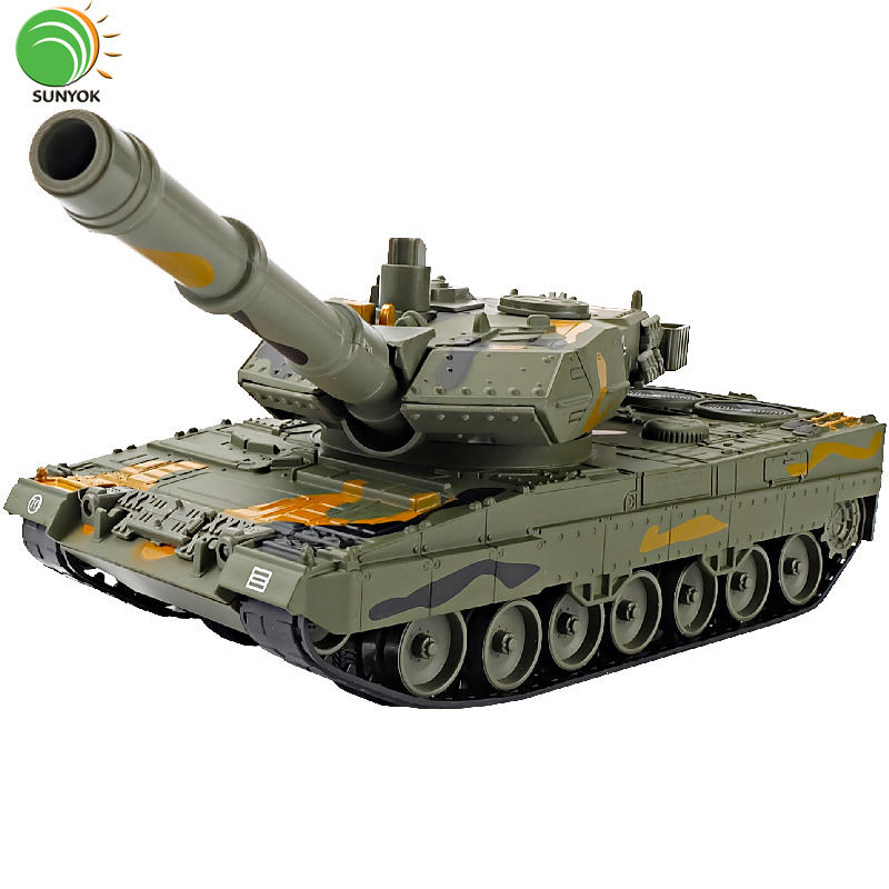 Hot Sales Diecast 1:40 Scale Alloy 2A6 Tank Military Model Metal Car Toy With Shooting