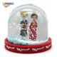 DIY special moments home decor couple snow globe mini glitter photo frame snow globe plastic water dome snow crystal ball