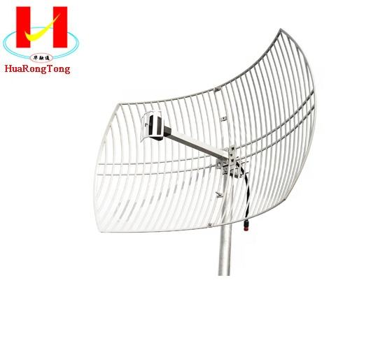 LTE 2.3GHz-2.7GHz 24dbi outdoor directional point to point grid antenna