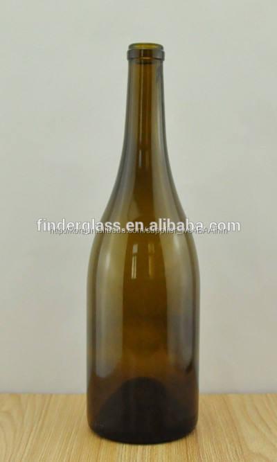 750ml 골동품 녹색 와인 사용 및 코르크 유리 와인 병 씰링 유형