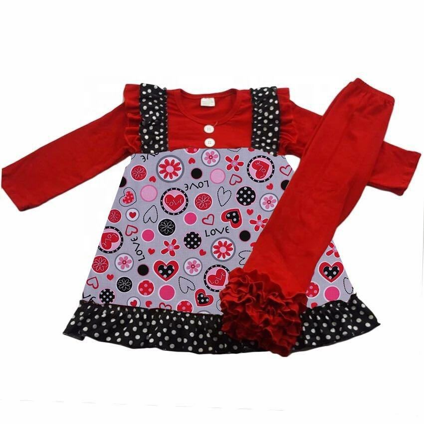 Saint Valentine's Day Children Winter Clothing Sets Baby Girls Clothes Sets