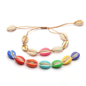 Fashion kleurrijke shell armband zee porceleinslak shell armband