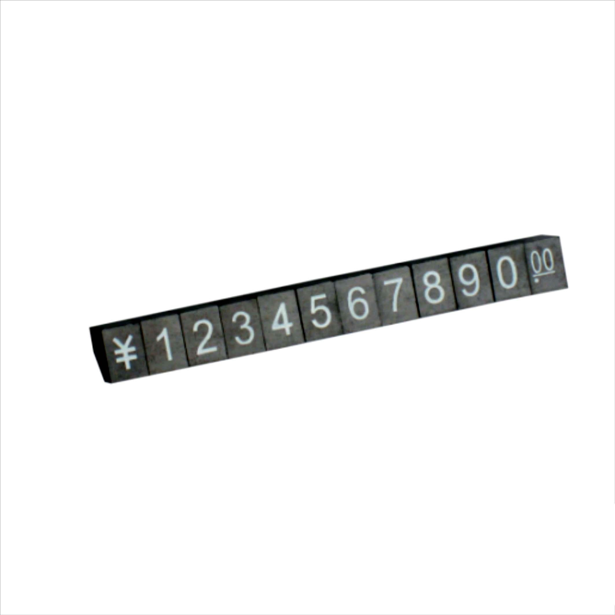 Free Standing Jewelry Plastic Clear Price Tags Price Cubes for Jewelry Displays With Flat/Embossed Number