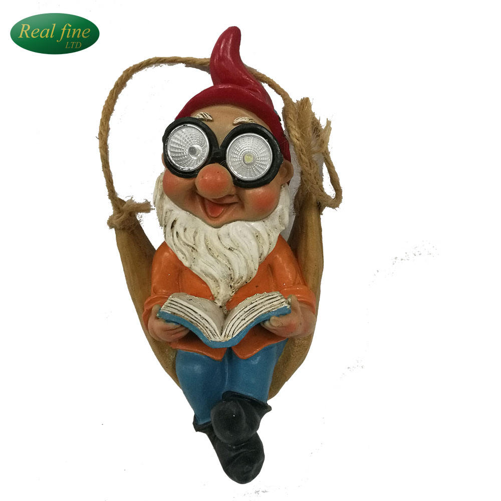 custom cheapest ceramic garden gnome figurine with light