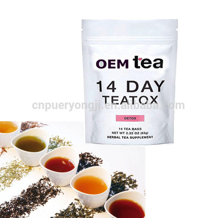 Organic Natural Herbal Flat Tummy and Flat Belly Fit Tea with Private Label