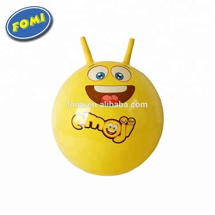 Haute qualité enfants jouet en <span class=keywords><strong>caoutchouc</strong></span> emojis hop balle