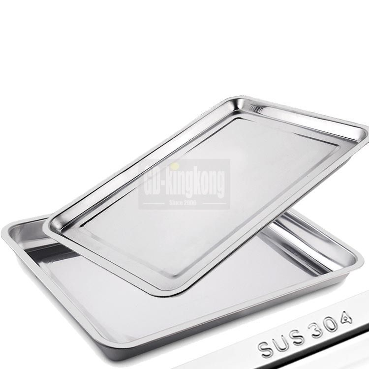 GUANGDONG-KINGKONG 304 stainless steel food serving tray/stainless steel square plate/metal fruit tray