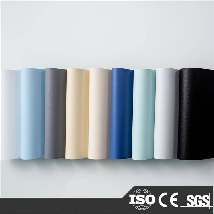 Basic plain design many colors blackout roller blind fabric and readymade blinds