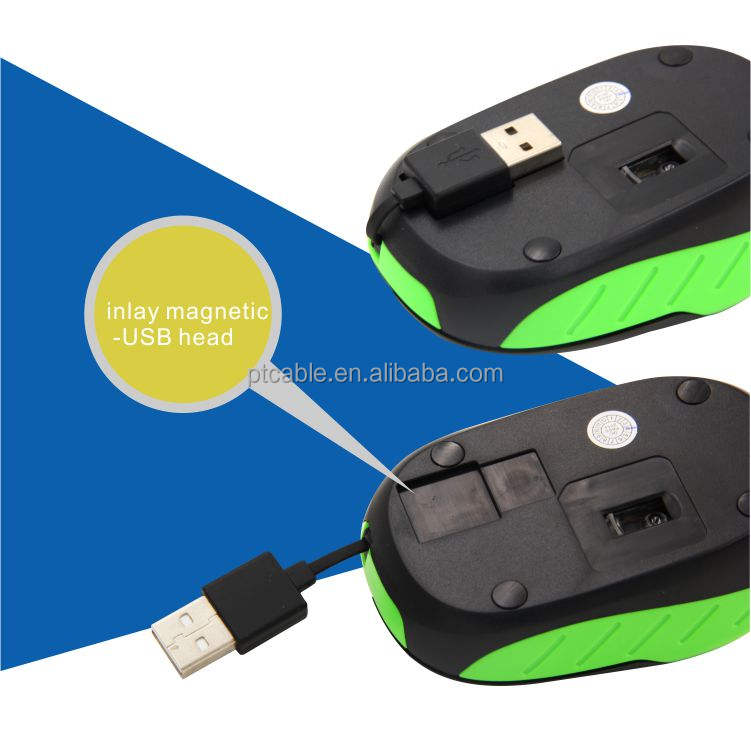 NEW 1000 DPI colorful Kabel Ditarik Ultra-tipis Optical Mouse untuk Laptop Desktop Notebook USB Adapter Keyboard Mouse