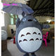 Lovely Japanese chinchillas cartoon mascot walking Japan Totoro costume for advertising