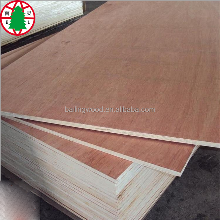 Linyi BB/CC Grade Okoume/Bintangor/Pencil Cedar Commercial Plywood/ply wood sheet For Furniture