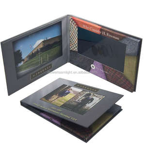 Newest Design Video Postcard/ Video Mailer/ LCD Video Brochure Card