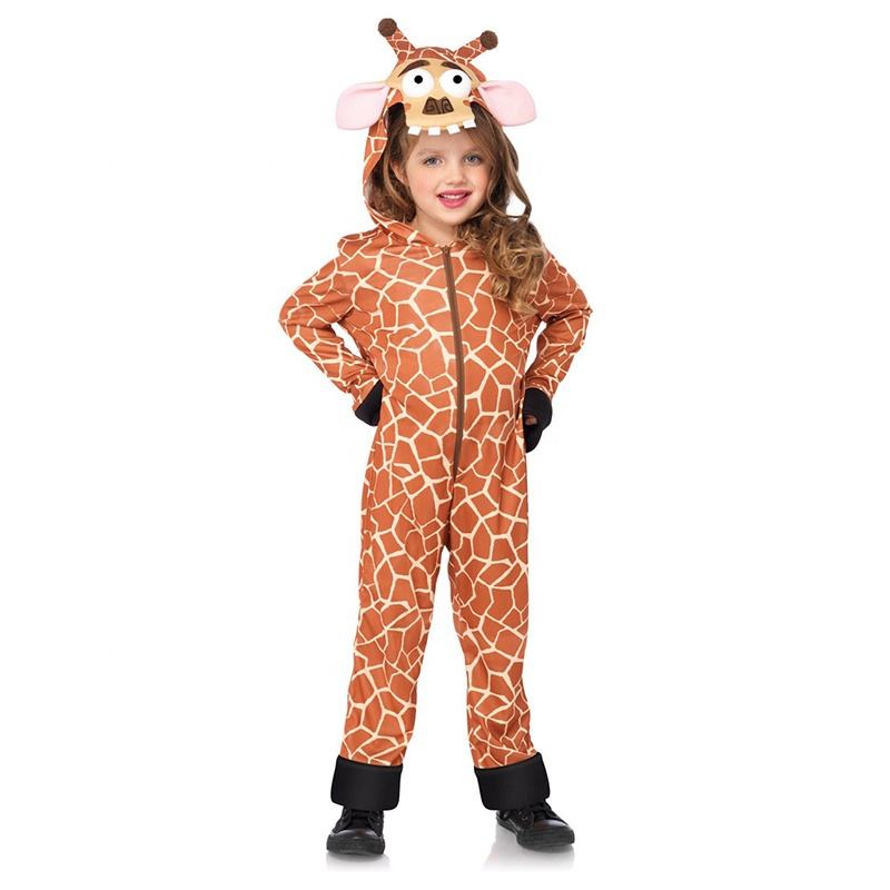 Karneval Party Tier <span class=keywords><strong>Kostüm</strong></span> Kinder Cosplay Phantasie Kleid Cartoon Charakter Long Neck Giraffe Maskottchen <span class=keywords><strong>Kostüm</strong></span>