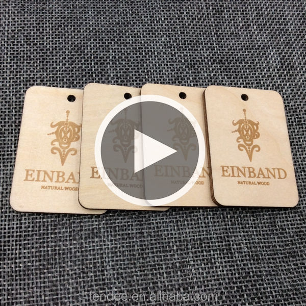 decoration wedding wooden tags custom engrave clothes wood hang tag