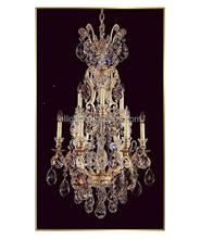 Large decorative fancy modern wrought iron chandelier