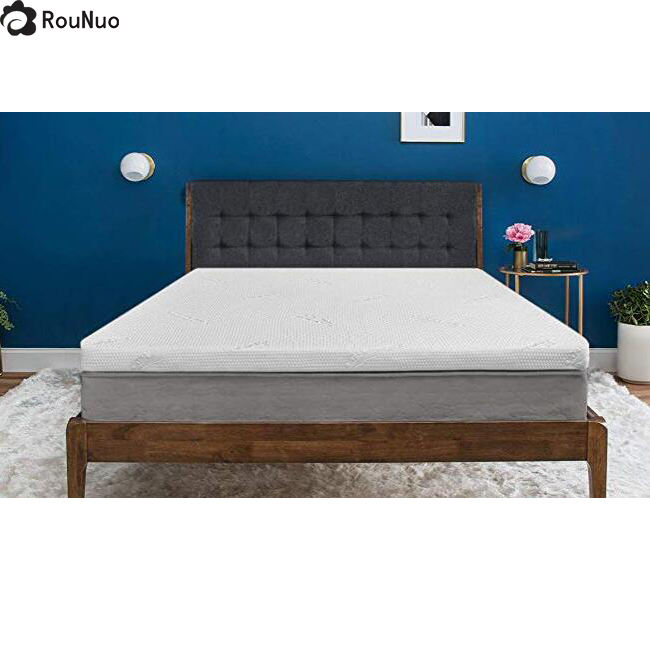 Bamboo [ Mattress Bed Topper ] Gel Mattress Topper Bamboo 2 Inch Gel Infused Removable Hypoallergenic Bamboo Memory Foam Mattress Bed Topper