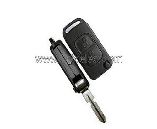For Mercedes A C E S Class 3 Button Remote Flip Key Case Shell /& Blade HU39