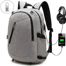 Wholesale Anti-theft Backpack with net and USB Charging Port 15.6 inch Laptop Sports Bag School Backpack for Men