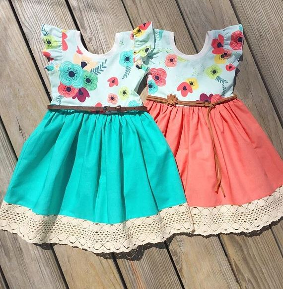 Fashion easter design children boutique clothing baby girl dresses