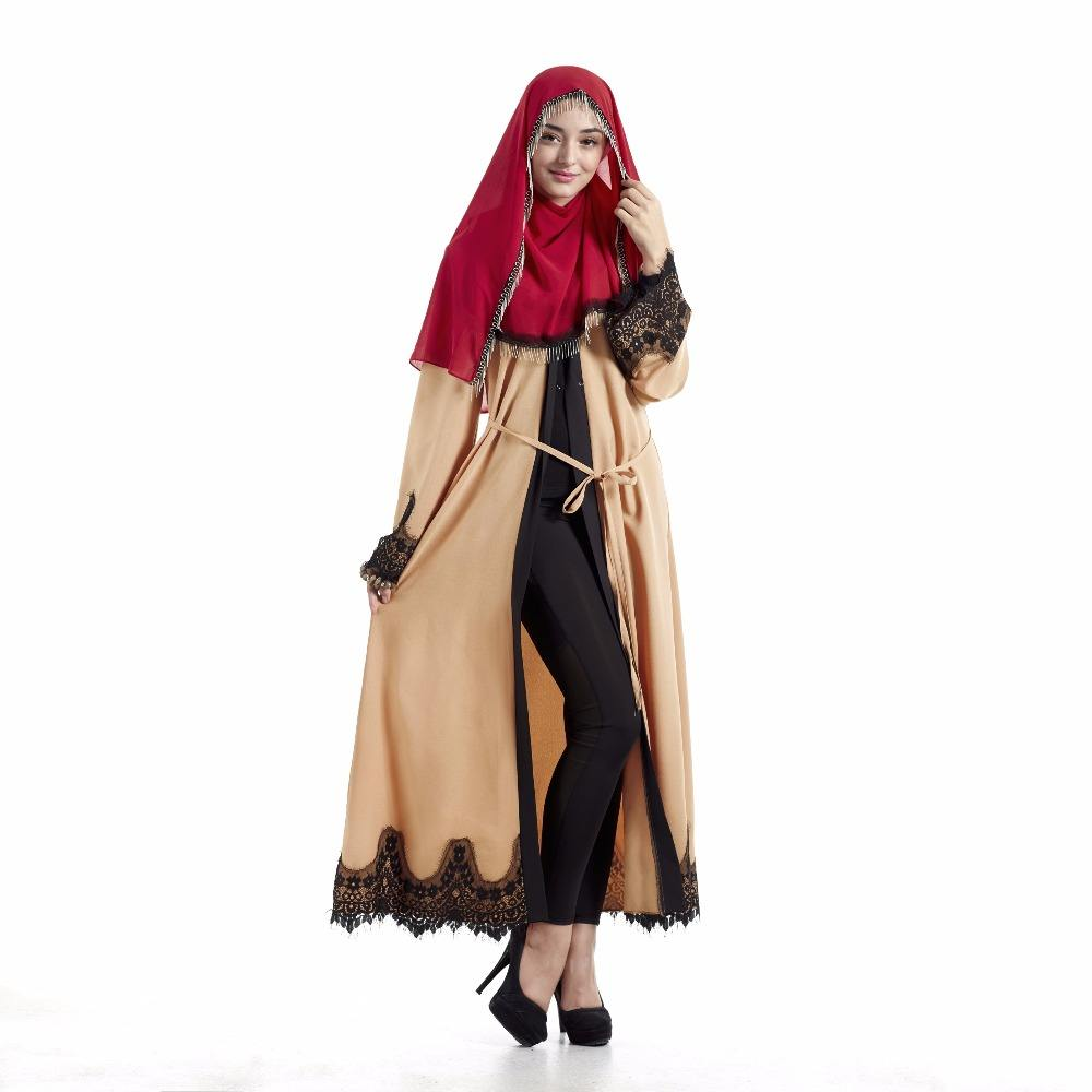 lace loose Pakistani Saudi women's dress cardigan robe