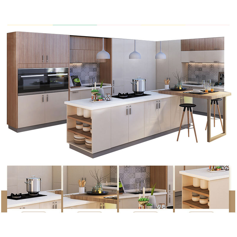Popular Style Lacquer Door Fitted Laminate Kitchen Cabinet