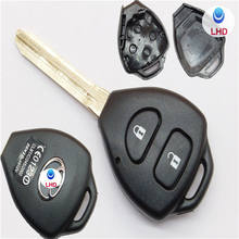 2 Button Uncut Replacement Plastic Remote Car Key Shell Case Fob Blank Keys for TOY Corolla RAV4 Toy43 Blade