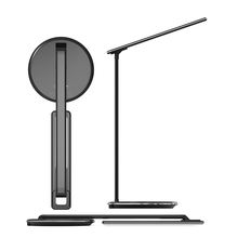 New product dimmable rechargeable led light desk lamp with fast charge mobile phone qi wireless charging charger