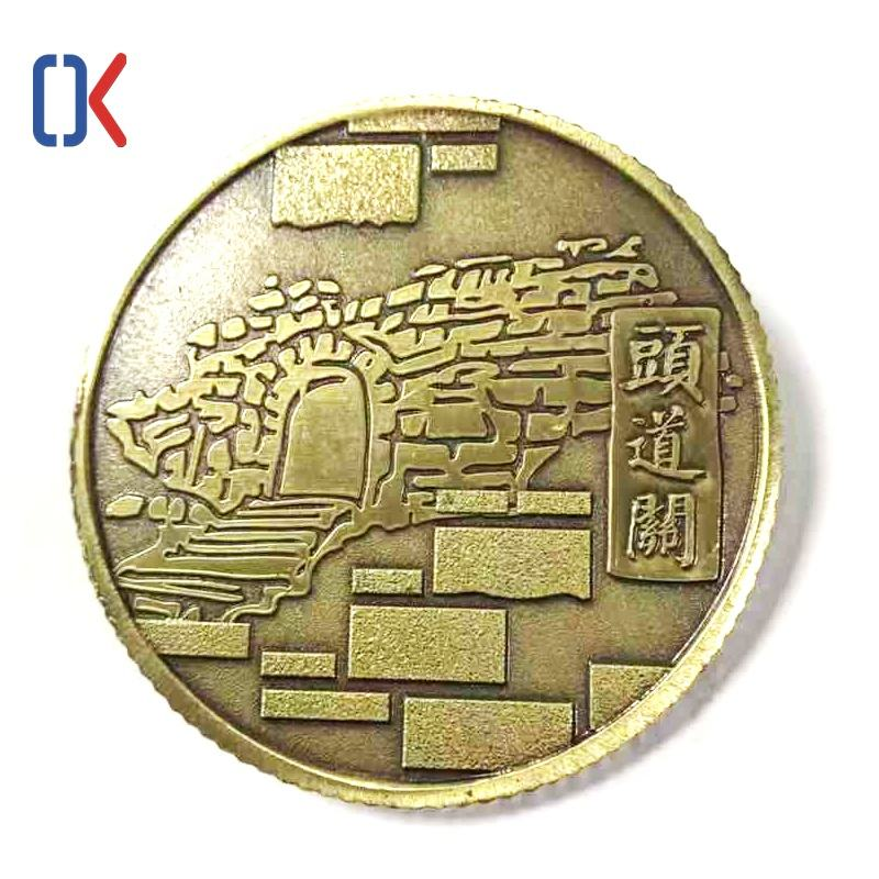 Brass customization 3D metal medal souvenir challenge coin antiqu collection gifts