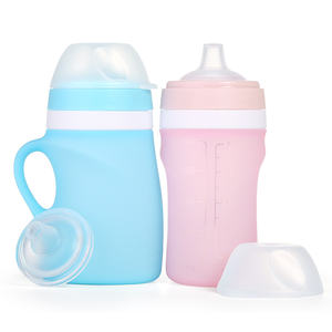 New Arrival Non-Toxic Silicone Feeding Bottle Baby, Baby Feeding Bottle