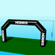 Free shipping 8x4m inflatable finish line arc, inflatable rainbow arch for big sports with cheap price