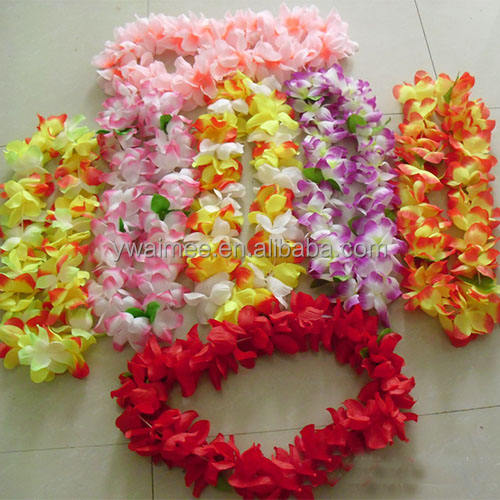 2014 Yiwu Aimee hotsale hawaii flower necklace lei ,hawaii flowers necklace(AM-HW01)