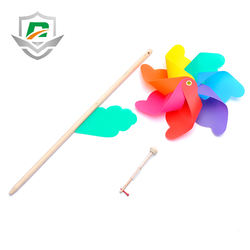 New design Promotion Logo Custom Cheap Plastic Windmills