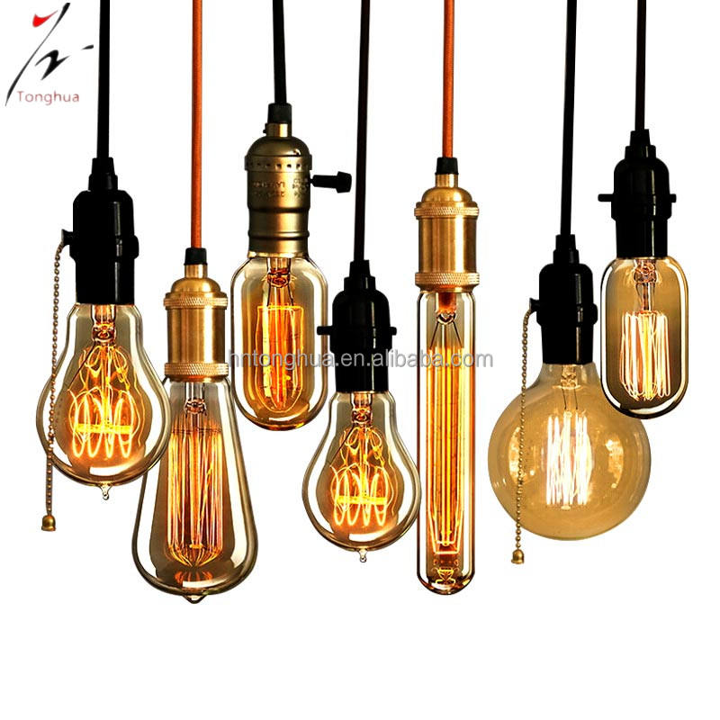 Hot-sale product vintage Edison light bulb wholesale A19/ST64/T30/T45/G95 antique edison bulbs
