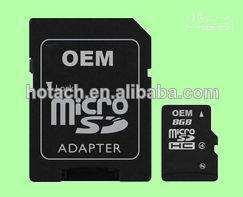 factory adaptateur avec 8go pleine capacité pour carte micro sd