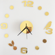 2018 new wall clock quartz watch reloj de pared modern design large decorative clocks Europe acrylic stickers living room clock