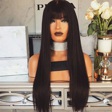 New Arrival wholesale straight 360 lace frontal wig with bangs