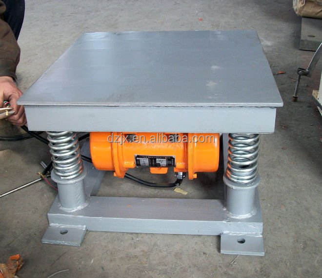 china electrical equipment concrete vibrating table vibrator/ concrete mould shaker table