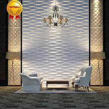 FACTORY Decorative PVC 3D ceiling/wall panel /wallpaper for golden hotel wall panel
