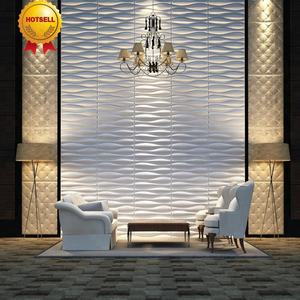 Decorative PVC 3D ceiling/wall panel /wallpaper for golden hotel wall panel
