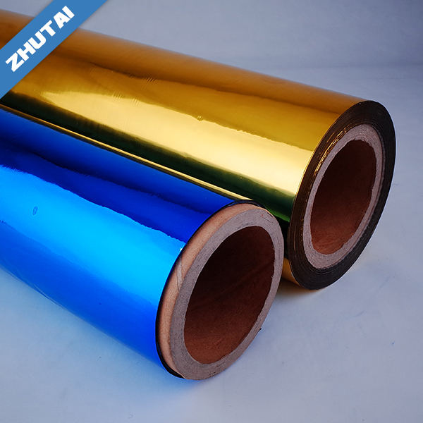 Bahan Kemasan plastik PET Colourful Metalized Film Laminasi Gulungan