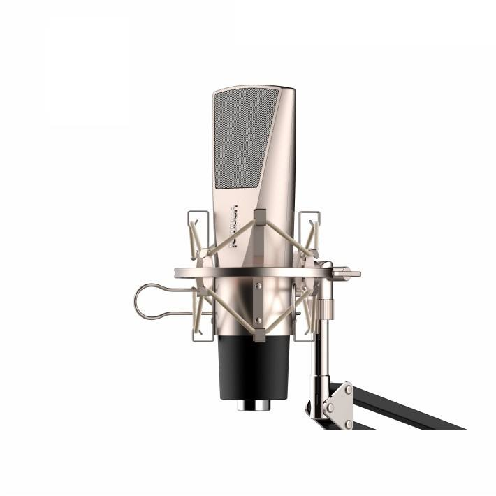600 Professional Sound Studio Recording Condenser Wired Microphone With 3.5mm Plug Stand Holder Pop Filter for KTV Karaoke