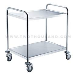 TT-BU103A Two Tiers Round Tube Rolling Utility Hotel Room Service Cart
