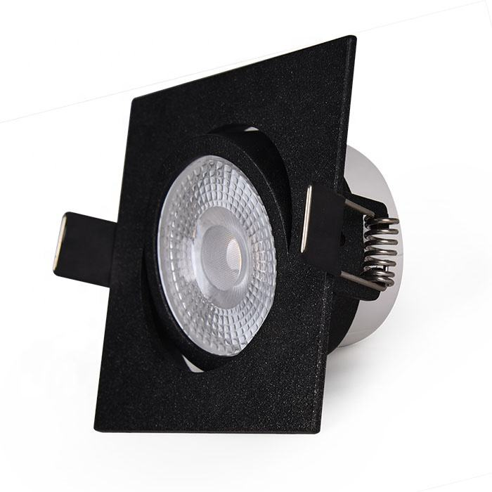 2 Years Warranty IP44 Ceiling Waterproof LED Spot Light, Double Rings Square Spot LED Lights