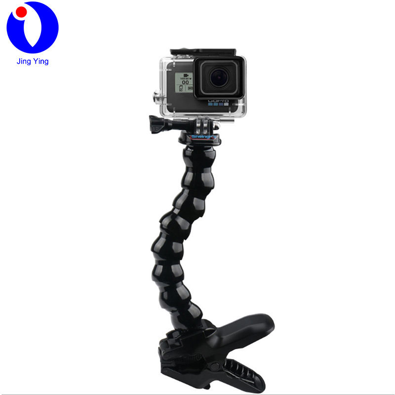 JingYing portable action camera snake arm with clamp