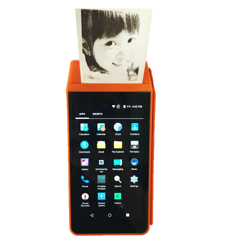 안드로이드 1D 2D 바코드-buy7days Handheld POS 와 NFC GPS 카메라 bluetooth wifi 4g 3g gprs