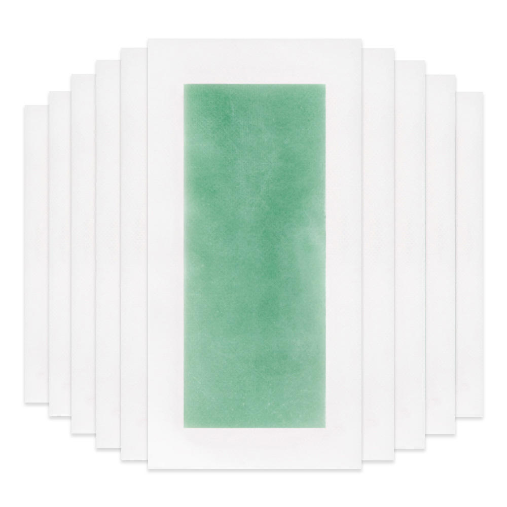 LANBENA green wax hair removal strips lady body hair remove big size