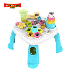 educational baby study table with toys