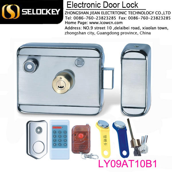 wireless remote control electronic interlock door lock system(LY09AT10B1)