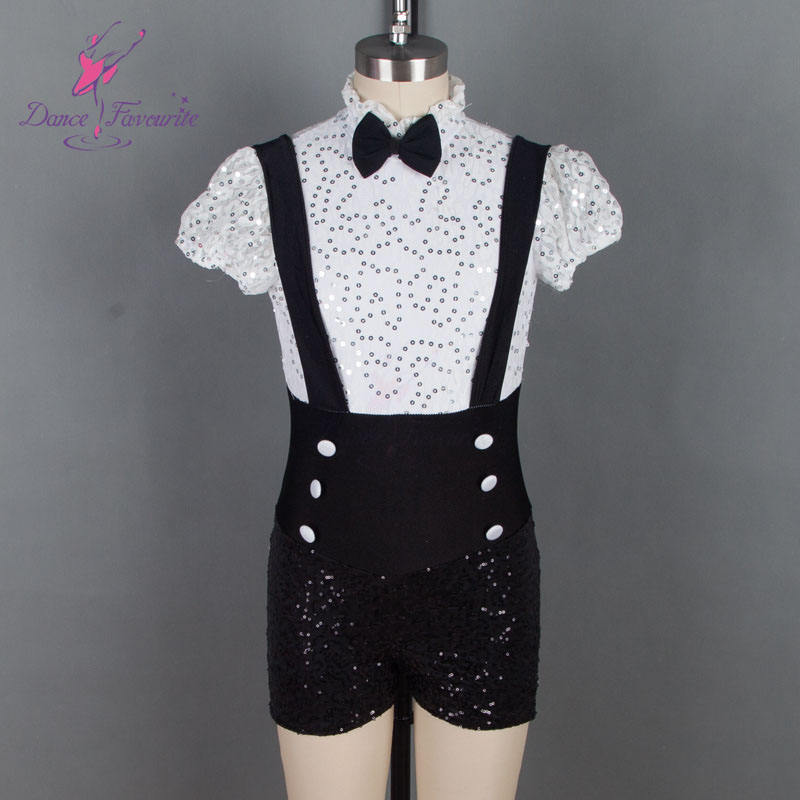 New Collection of Boy Short Design Jazz and Tap Dance Costume for Child and Adult Stage Performance 18529